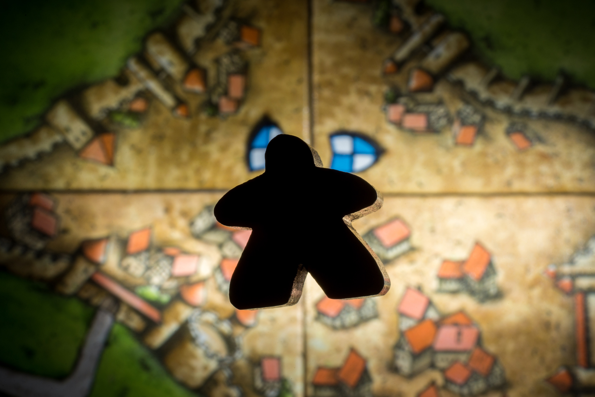 Knighted meeple in Carcassonne