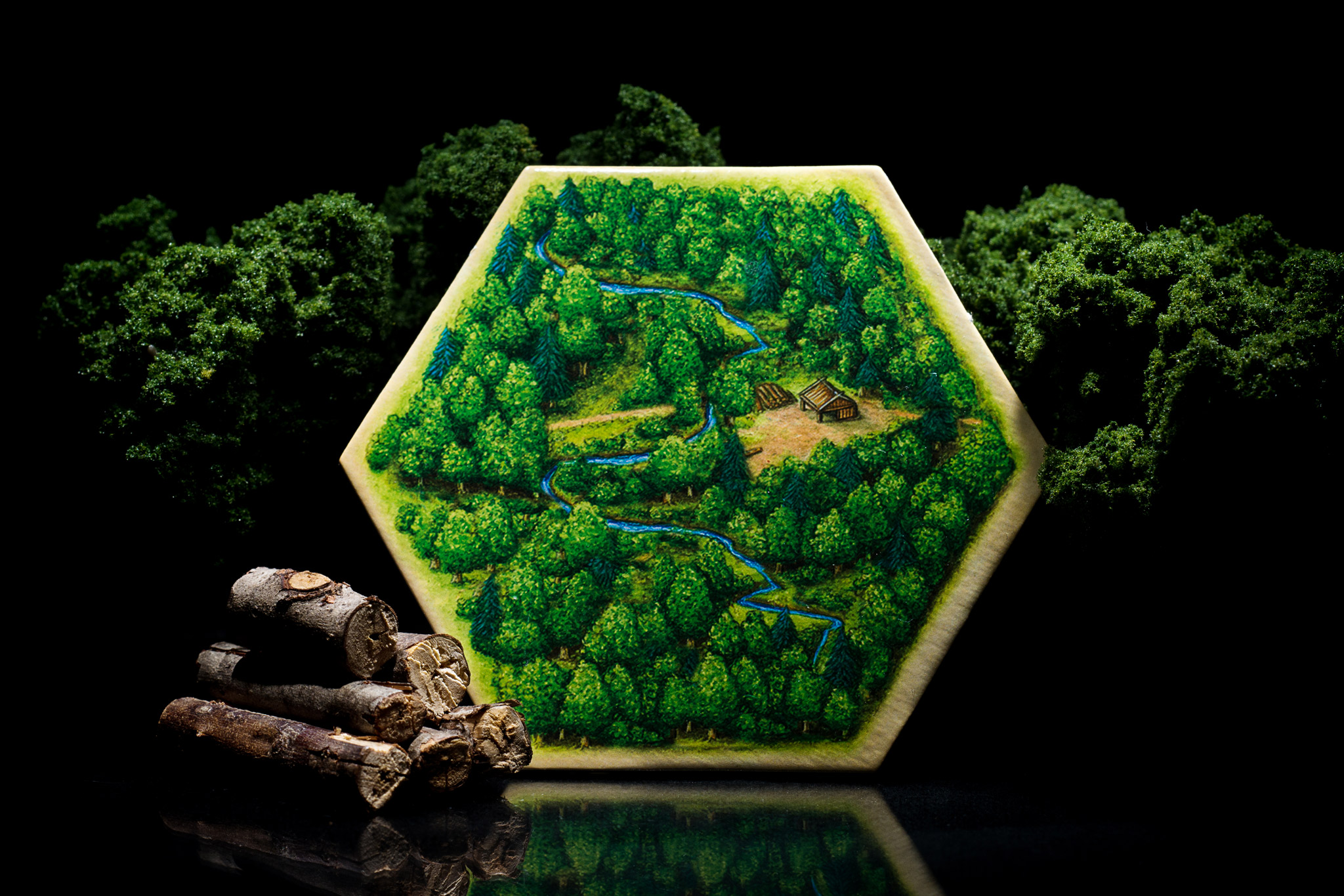 Catan forest hex tile