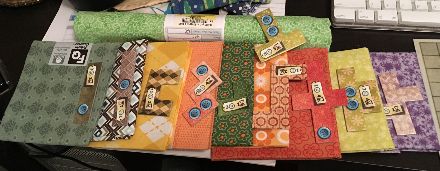 Matching Patchwork pieces to fabric