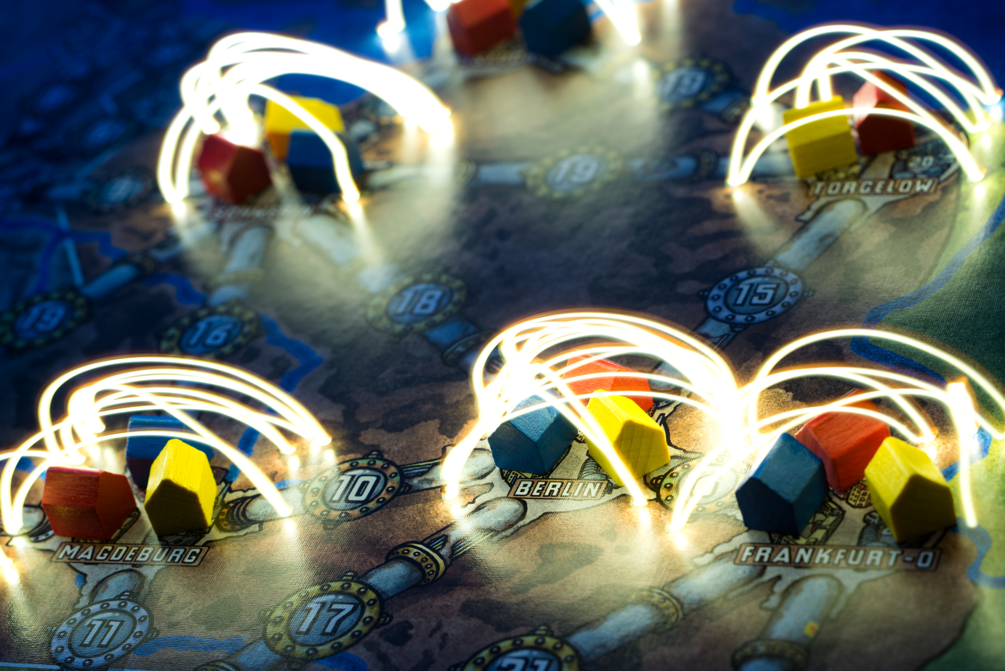 Zap! Electrifying image of Power Grid board game
