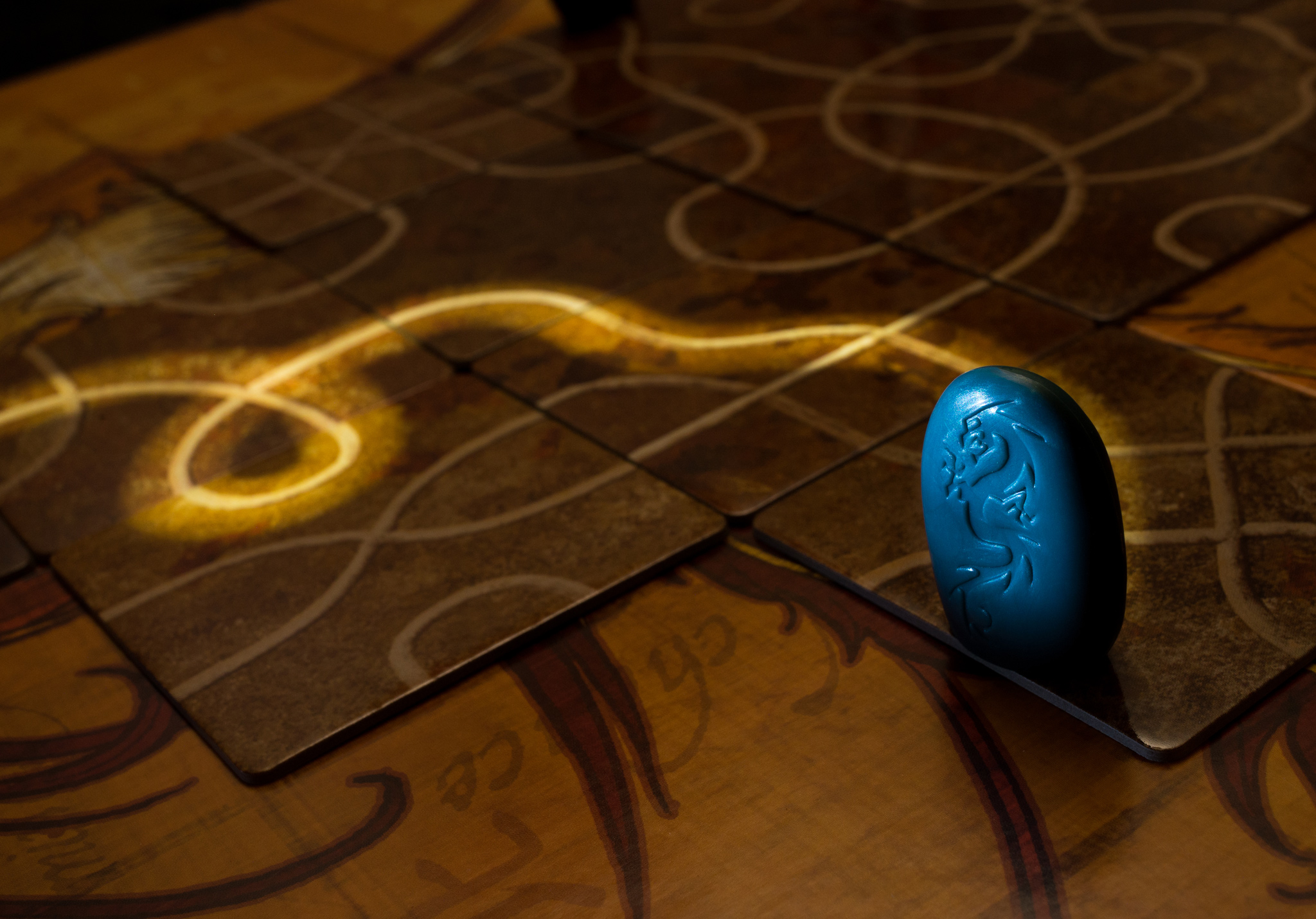 Tsuro tile laying game of the path
